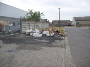Dumping in Roker Close cleaned up